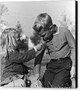 Two Children Canvas Print by Hans Namuth