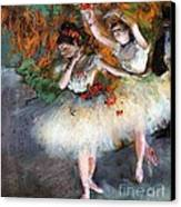 Two Dancers Entering The Scene Canvas Print
