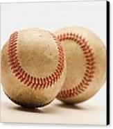 Two Dirty Baseballs Canvas Print by Darren Greenwood