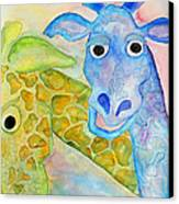 Two Giraffes Canvas Print by Shannan Peters
