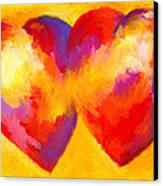 Two Hearts Beat As One Canvas Print by Stephen Anderson