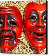 Two Masks Canvas Print by Borislav Marinic