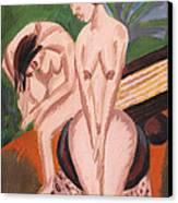 Two Nudes In The Room Canvas Print by Ernst Ludwig Kirchner