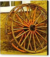 Two Wagon Wheels Canvas Print by Jeff Swan