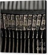 Typewriter Canvas Print by Bernard Jaubert