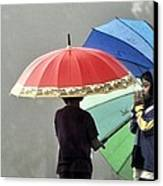 Umbrella For Rent Canvas Print by Achmad Bachtiar