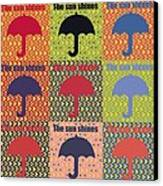 Umbrella In Pop Art Style Canvas Print by Tommytechno Sweden