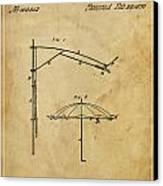 Umbrella Patent - A.b. Caldwell Canvas Print