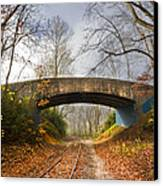 Under And Over  Canvas Print by Debra and Dave Vanderlaan