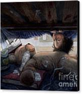 Under The Bed Canvas Print by Isabella Kung
