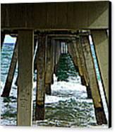 Under The Boardwalk  Canvas Print by Dianne  Lacourciere