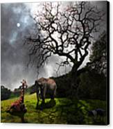 Under The Old Oak Tree - 5d21097 - Square Canvas Print