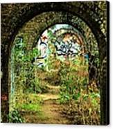 Underneath The Railway Arches Canvas Print by C Lythgo