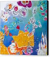 Underwater Flowers Canvas Print by Diane Fine