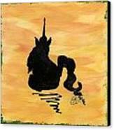 Unicorn At Rest Canvas Print by Gail Schmiedlin