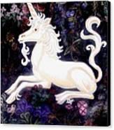 Unicorn Floral Canvas Print by Genevieve Esson