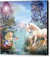 Unicorns Lake Canvas Print