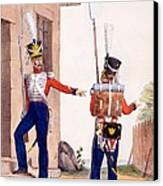 Uniform Of The 8th Infantry Regiment Canvas Print by Charles Aubry