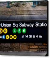 Union Square Subway Station Canvas Print by Susan Candelario