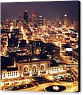 Union Station Night Canvas Print by Crystal Nederman