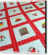 Unique Quilt With Christmas Season Images Canvas Print