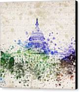 United States Capitol Canvas Print by Aged Pixel