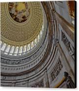 Unites States Capitol Rotunda Canvas Print by Susan Candelario