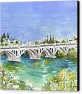 University Bridge Canvas Print by Pat Katz