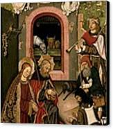 Unknown, Crib Altarpiece, 15th Century Canvas Print by Everett