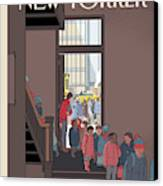 New Yorker January 7th, 2013 Canvas Print