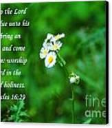 Unto The Lord Canvas Print