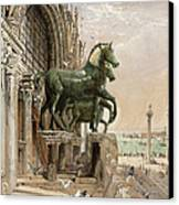 Upper Portion Of The Facade Of St Canvas Print