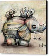 Upside Down Elephants Canvas Print by Karin Taylor
