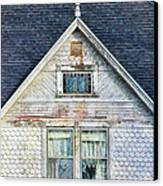 Upstairs Windows In Old House Canvas Print by Jill Battaglia