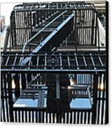 Urban Fabric - Fire Escape Stairs - 5d20592 Canvas Print by Wingsdomain Art and Photography