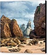 Ursa Beach Rocks Canvas Print