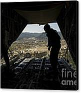 U.s. Air Force Airman Pushes Canvas Print by Stocktrek Images