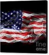 Usa Flag Smoke  Canvas Print