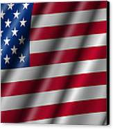 Usa Stars And Stripes Flying American Flag Canvas Print by David Gn