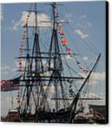 Uss Constitution Canvas Print by Mike Ste Marie