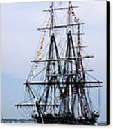 Uss Constitution Canvas Print by Nancy A Santry