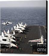 Uss Enterprise Conducts Flight Canvas Print by Stocktrek Images