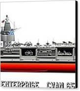 Uss Enterprise Cvn 65 1969 Canvas Print by George Bieda