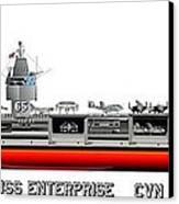 Uss Enterprise Cvn 65 1975- 1981 Canvas Print