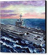 Uss George H.w. Bush Canvas Print by Sarah Howland-Ludwig