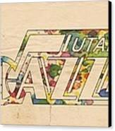 Utah Jazz Retro Poster Canvas Print
