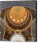 Utah State Capitol Rotunda Interior Archways Canvas Print by Gary Whitton