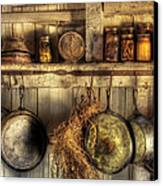 Utensils - Old Country Kitchen Canvas Print by Mike Savad