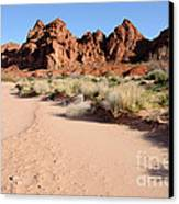 Valley Of Fire Wash Canvas Print by Gary Whitton