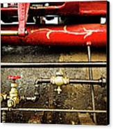Valves Lines And Tanks Canvas Print by Dale Stillman